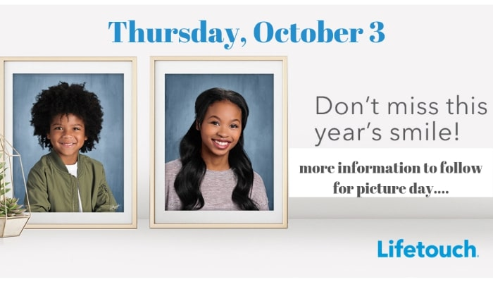 Picture Day is Thursday, October 3rd!